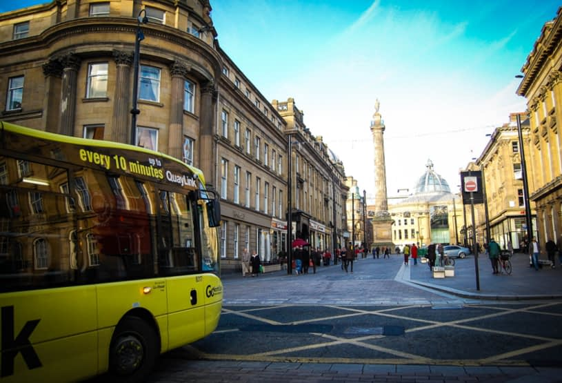 bus in newcastle