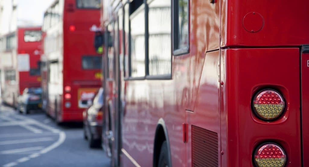 red bus fleet
